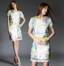 Alibaba printed adult lady evening girls party dress made in china