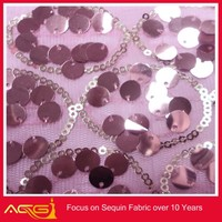 2014 hot sele fashion new Spandex of sequin dress nylon mess fabric