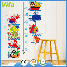 Animals Kid's Growth Height Chart Measure Removable Vinyl Art Wall Decal Sticker
