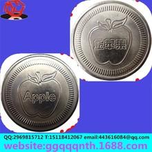 gold apple brand apis florea Littie Bee polar bear logo metal iron 316 304 stainless steel game tokens coin