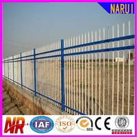 designs for cheap decorative galvanized steel/wrought security fence panels& finials by china suppplier