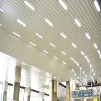 Airport Ofen Used Aluminum Metal Frame Interior Strip Ceiling Panel