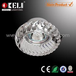 China manufactuer crystal light for G5.3 GU10 led crystal light frame