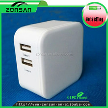 us dual port usb wall charger/shenzhen factory supply 2 port usb charger for mobile phone