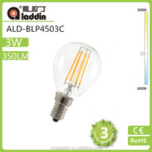 6w 3w filament led lamp 660lm e14 with high lumen and low price