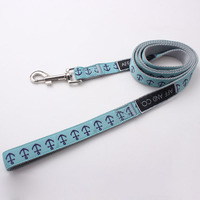 Custom nylon dog leash with sublimation ribbon on the face high quality