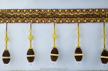 sale lace trim beads decoration,beaded curtain trimming