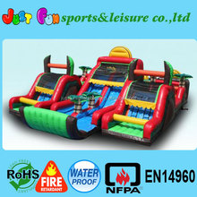 Tropical inflatable obstacle, giant inflatable obstacle course, inflatable obstacle course inflatable maze