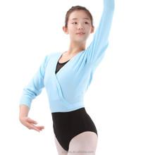 Ballet Long Sleeve Warm-up, Dance Sweater, Ballet Wrap Tops (3516)