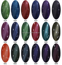 Soak off Nails Art Gel Polish Super rich Color - cat eye color gel nail polish 36 Colors,nail and gel polish