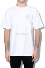 Simple style white plain men's t plus size t shirt