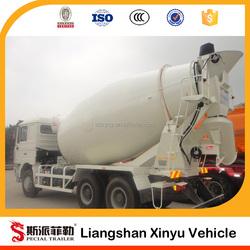 Concrete mixing semi-trailer 3 axle