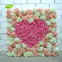 FLW1508 GNW 5ft Wedding Decoration Flower Stand with Silk Rose Artificial Wall Flower Arrangement for Stage Backdrop