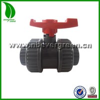 plastic injection PVC double union ball valve(socket & thread)