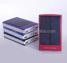 Factory wholesale cheap solar mobile phone charger 10400mah power bank for cellphone