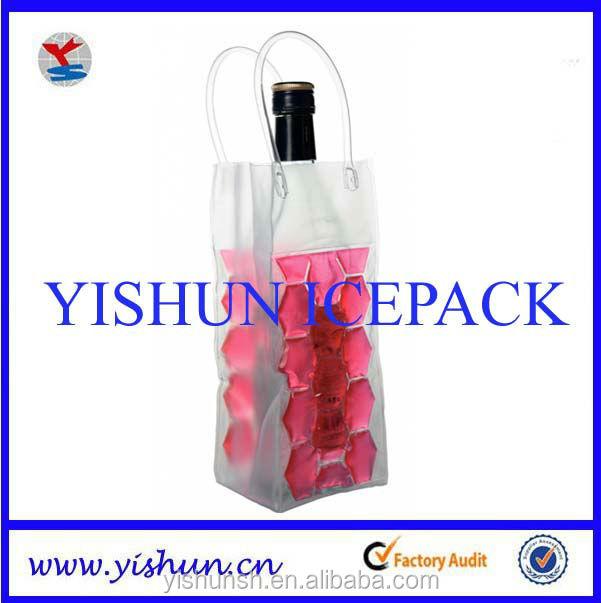 Wine Bottle Gel Cooler Bag Hot Cold Pack For Promotional