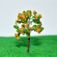 Tiny 45/24mm color spong powder tree train wire metal tree model kit &gifts LR Wire tree toy