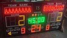 1800*950*75 big electronic digital number LED display board with optional movable stand