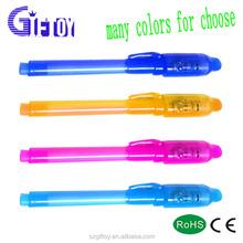 Disappearing ink uv light cheap plastic pen