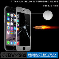 High quality cheap smart phone accessories anti glare tempered glass screen protector for iphone 6 plus
