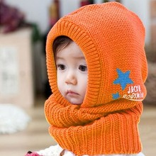 Fancy design Cute Baby warm hat Knitted Hat / Cap and Scarf ear hat