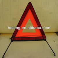 Factory price!portable highway reflective emergency parking led warning triangle for safety use