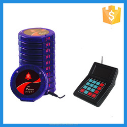2015 High-end Guest Table Waiting,New Numeric Coaster Pager ,Buzzer for Fast Food