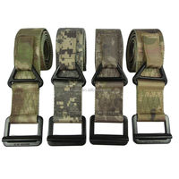 military tactical style army belt with alloy metal buckle