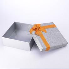 Glitter silver jewelry box with rainbow