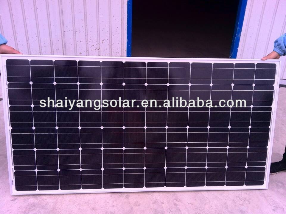 high quality 200w mono solar panel with CE ISO certificate