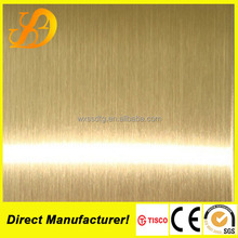 316 sun color hairline finish stainless steel sheet