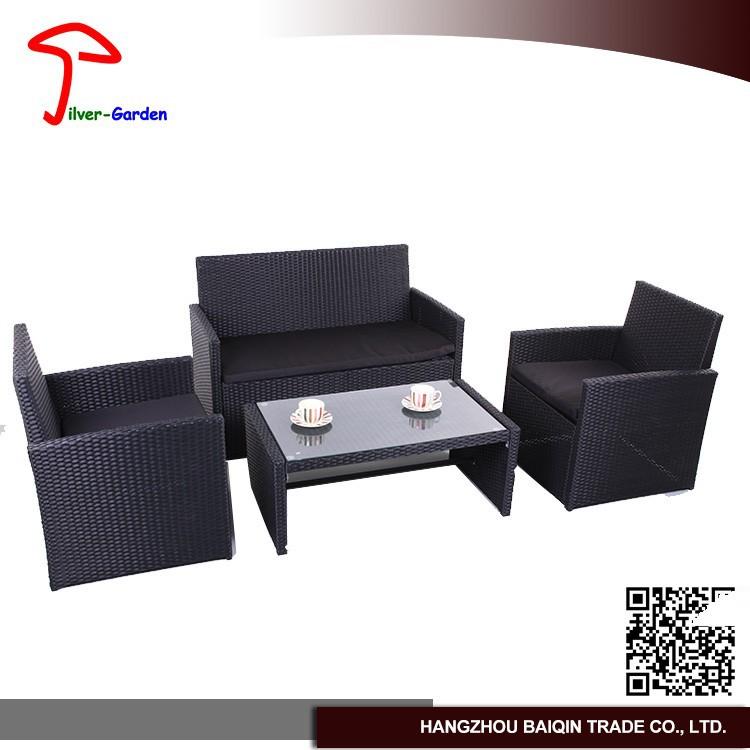 mobiliario jardim rattan : mobiliario jardim rattan:2015 All weather rattan dupla sofá com almofada de vime ao ar livre