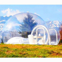 Transparent inflatable bubble house for camping