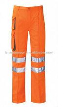 Hommes pantalons de travail réfléchissant avec haute visibilité bande réfléchissante