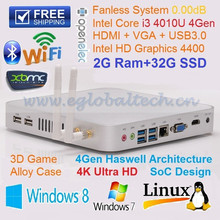 intel core i3 processor price 2GB RAM 32GB SSD Desktop i3 4010u Core Fanless Design 300M Dual WIFI Antenna Bluetooth