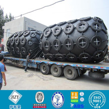 Protective rubber bumpers for ship