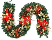 hot sell handmade christmas decorative garland fashion thick tinsel garland for xmas decorations