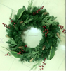 artificial PET tinsel wreath gifts christmas yard decoration