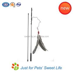 Handmade Cat Dancer Toy with Colorful Feathers