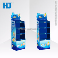 POP Corrugated baby shop display for diaper, point of sale cardboard pallet display for pampers