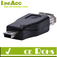 Linkacc-3D USB to mini USB Adapter Female to Male
