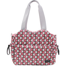 Large Diaper Tote Satchel Bag with Changing Pad and Stroller Straps