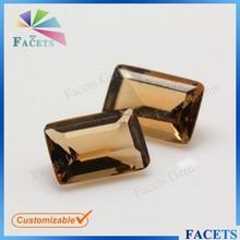 las facetas de la moda de piedras preciosas esmeralda corte rectángulo de vidrio suelto de piedras preciosas