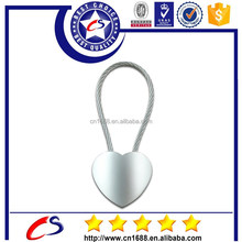 2015 hot sale special heart shaped metal keychain for cheap