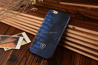 Navy blue Ultra thin Exotic leather phone case, High quality PU leather, for iphone