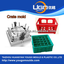 Plastic Injection Mould Shaping Mode, crate mould Product, Milk Crate Mould