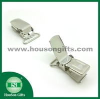 Wholesale shiny surface iron fashion suspenders clips for clothes