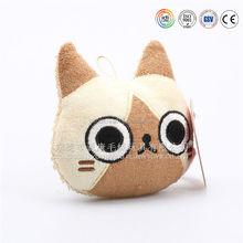 Custon lovely plush cat keychain