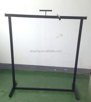 Customized powder coating clothing rack black color retail rack