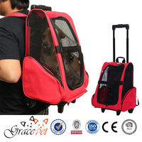 [Grace Pet] Airline Approved Travel Pet Backpack with Wheels